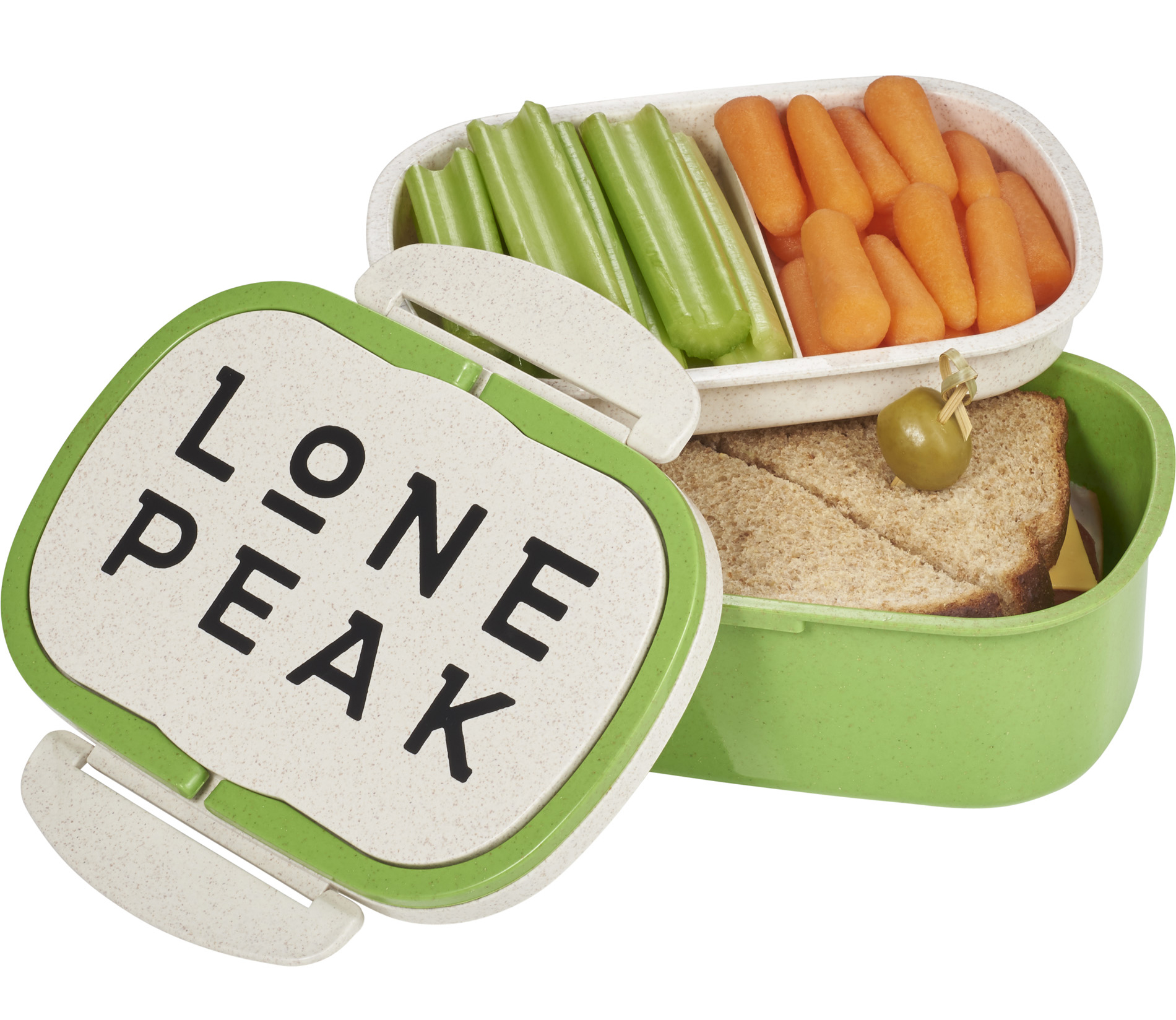 Plastic and Wheat Straw Lunch Box Container (1033-61)
